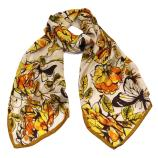 women - SCARVES AND LONG SCARVES - 45x180 Silk Acquarello Arancio