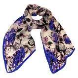 women - SCARVES AND LONG SCARVES - 45x180 Silk Acquarello Lilla