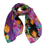 women - Scarves - 45x180 Silk Aida Viola