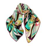 women - SCARVES AND LONG SCARVES - 70X180 SILK Arco Iris Acqua Marina