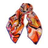 women - SCARVES AND LONG SCARVES - 70X180 SILK Arco Iris Arancio