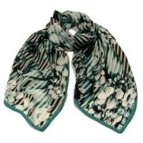 women - SCARVES AND LONG SCARVES - 70x180 Silk Crepe Audacia Petrolio