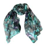 women - SCARVES AND LONG SCARVES - Devorè Bagliore Nero Celeste