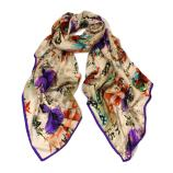women - SCARVES AND LONG SCARVES - 70X180 SILK Ballerine viola