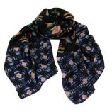 women - SCARVES AND LONG SCARVES - 70x180 Silk Crepe Battito Blu
