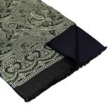 men - SCARVES - Silk lined in wool Caravaggio Nero