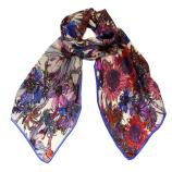 women - SCARVES AND LONG SCARVES - 45x180 Silk Elianto Blu