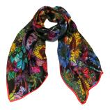 women - SCARVES AND LONG SCARVES - 45x180 Silk Elianto Rosso Nero