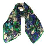 women - SCARVES AND LONG SCARVES - 45x180 Silk Elianto Verde