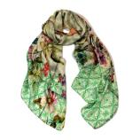 women - SCARVES AND LONG SCARVES - 70X180 SILK Faenza Verde Acqua