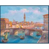 women - SCARVES AND LONG SCARVES - 140x180 Silk Crepe Firenze Veduta Firenze Veduta