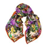 women - SCARVES AND LONG SCARVES - 70X180 SILK Giglio Arancio