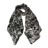 women - SCARVES AND LONG SCARVES - 70X180 SILK Gioioso Bianco Nero