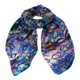 women - SCARVES AND LONG SCARVES - 45x180 Silk Gioioso Blu