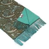 men - SCARVES - DOUBLE SILK Leonardo Grigio Celeste