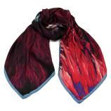 women - SCARVES AND LONG SCARVES - 70x180 Silk Crepe Livrea Fucsia