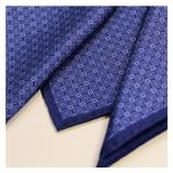 men - POCKET SQUARES - Hand Rolled Maiolica Blu