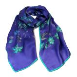 women - SCARVES AND LONG SCARVES - 45x180 Silk Maria Blu