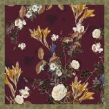 women - SQUARES - 50X50 SILK Merlo Bordeaux
