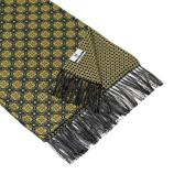 men - SCARVES - DOUBLE SILK Michelangelo Giallo Nero