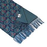 men - SCARVES - DOUBLE SILK Raffaello Blu