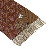 men - SCARVES - DOUBLE SILK Raffaello Marrone