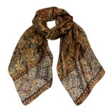 women - SCARVES AND LONG SCARVES - 45x180 Silk Turandot Oro
