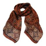 women - SCARVES AND LONG SCARVES - 45x180 Silk Turandot Rosso