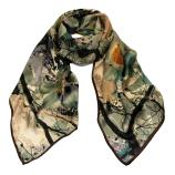 women - SCARVES AND LONG SCARVES - 45x180 Silk Valchiria Marrone
