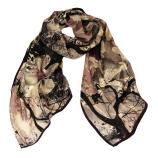 women - SCARVES AND LONG SCARVES - 45x180 Silk Valchiria Nero Cipria