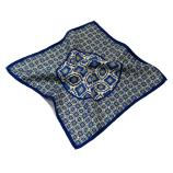 men - POCKET SQUARES - Pochette Virgilio Blu