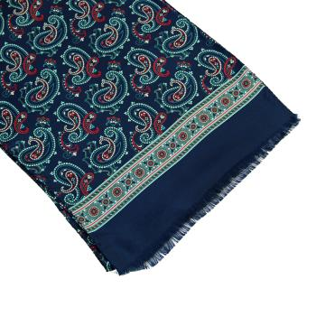 men - SCARVES - SILK Raffaello Blu Celeste