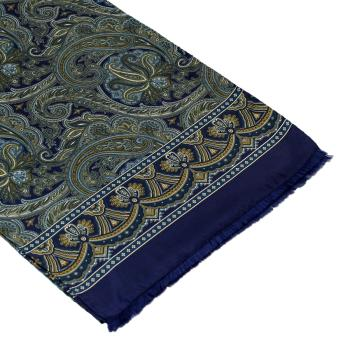 men - SCARVES - SILK Caravaggio Blu