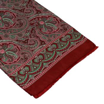 men - SCARVES - SILK Caravaggio Bordeaux
