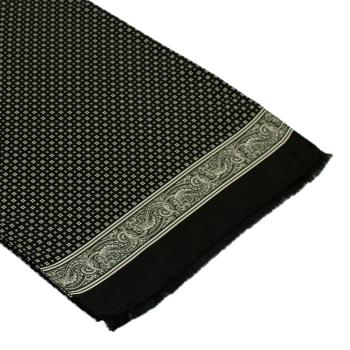 men - SCARVES - SILK Amedeo Nero