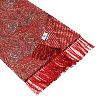 men - SCARVES - DOUBLE SILK Leonardo Bordeaux