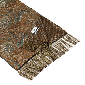 men - SCARVES - DOUBLE SILK Leonardo Marrone