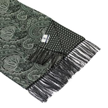 men - SCARVES - DOUBLE SILK Leonardo Nero