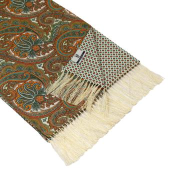 men - SCARVES - DOUBLE SILK Leonardo Bianco