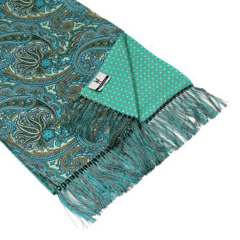 men - SCARVES - DOUBLE SILK Leonardo Celeste