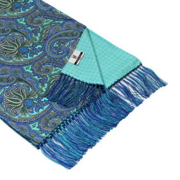 men - SCARVES - DOUBLE SILK Leonardo Blu Celeste