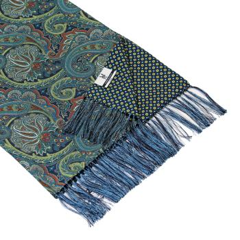 men - SCARVES - DOUBLE SILK Leonardo Blu