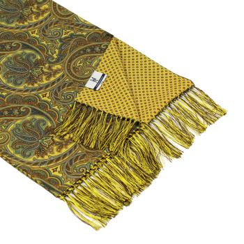 men - SCARVES - DOUBLE SILK Leonardo Giallo