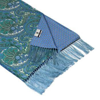 men - SCARVES - DOUBLE SILK Leonardo Azzurro