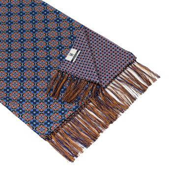 men - SCARVES - DOUBLE SILK Michelangelo Blu Oro