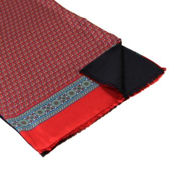 men - SCARVES - Silk lined in wool Tiepolo Rosso