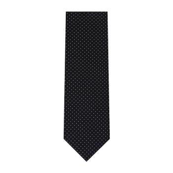 men - TIES - JACQUARD Spillo Navy Bianco