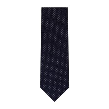 men - TIES - JACQUARD Spillo Navy Grigio
