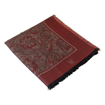 women - SQUARES - 140x140 Silk wool Mediceo Bordeaux