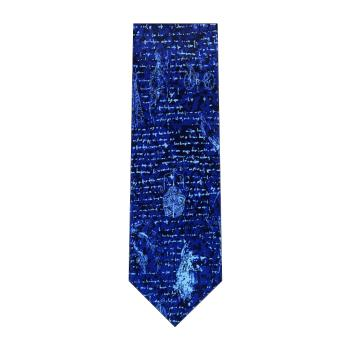 men - TIES - Printed Da Vinci Blu